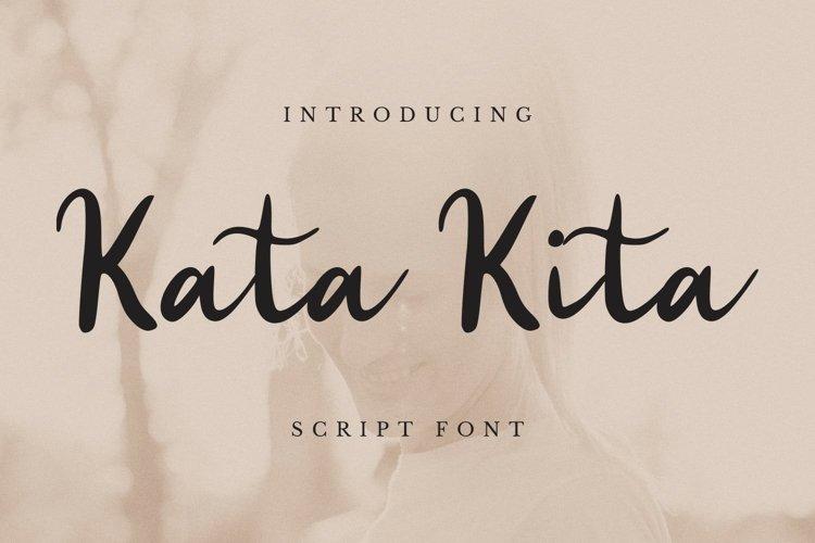 Kata Kita Font example image 1