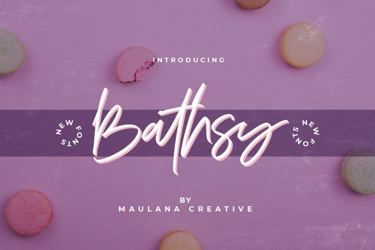 Bathsy Signature Brush Script Font example image 1