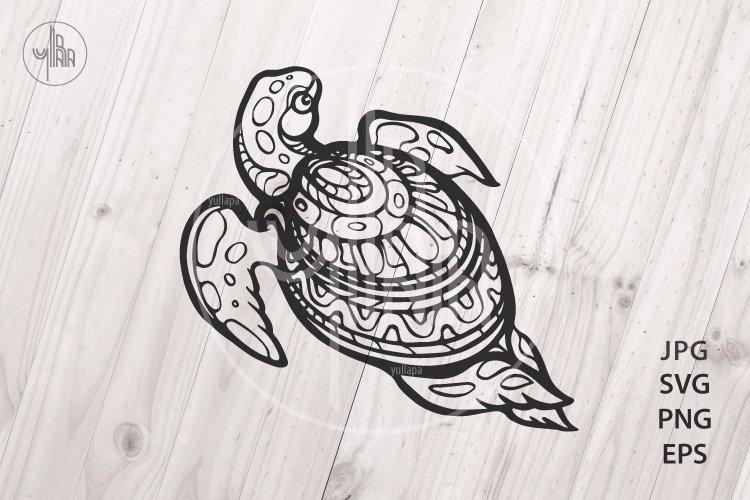 Sea Turtle, Decorative animal vector clip art, SVG, PNG, EPS