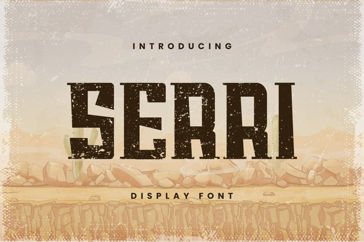 SERRI Font example image 1