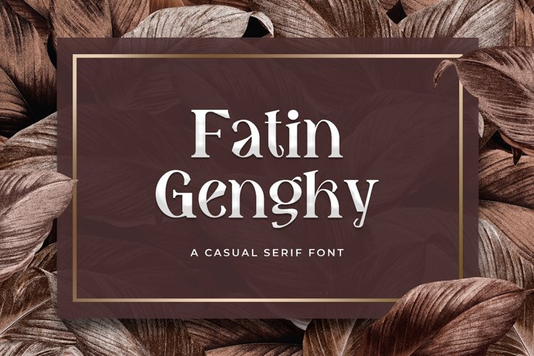 Fatin Gengky - Casual Serif Font example image 1