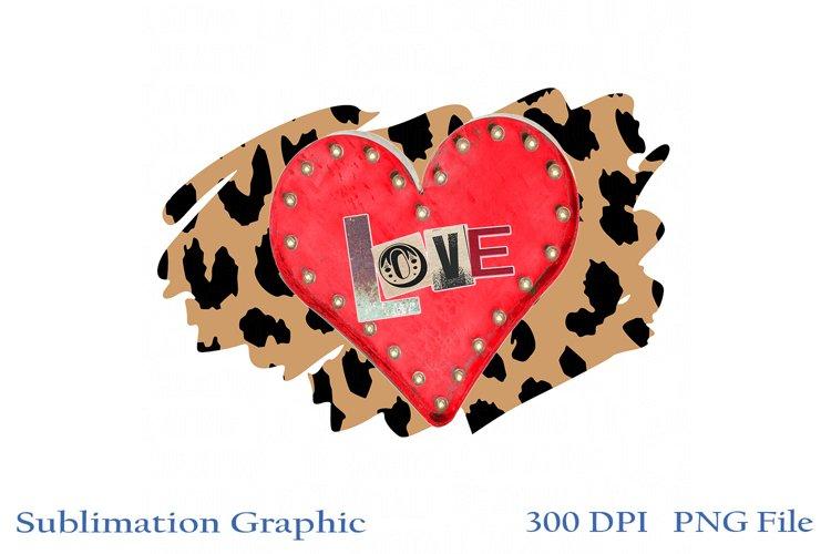 Junky Leopard Heart PNG