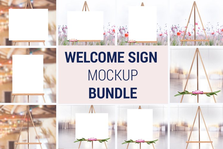Easel Mockup BUNDLE, Welcome sign, Wedding Sign Mockup, 996
