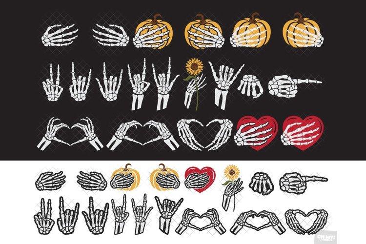 Skeleton Hand SVG Halloween Bundle with PNG, DXF, EPS, JPG