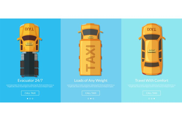 Vector order taxi app screens example image 1
