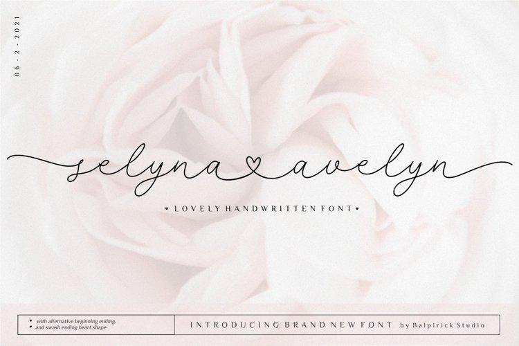 Selyna Avelyn Lovely Handwritten Font example image 1