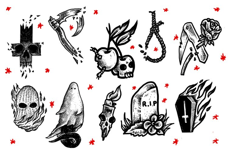 RIP tattoo collection example image 1