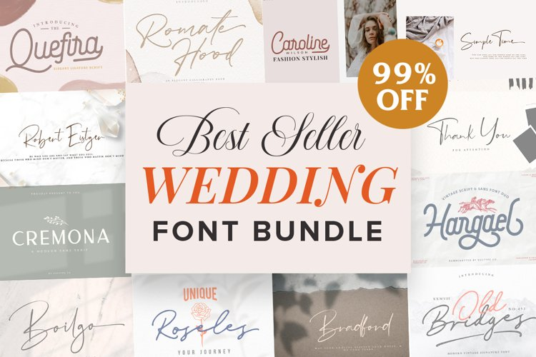 Wedding Font Bundle Vol. 1