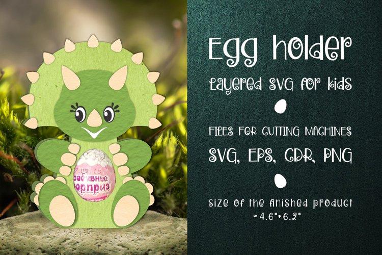 Triceratops - Chocolate Egg Holder SVG