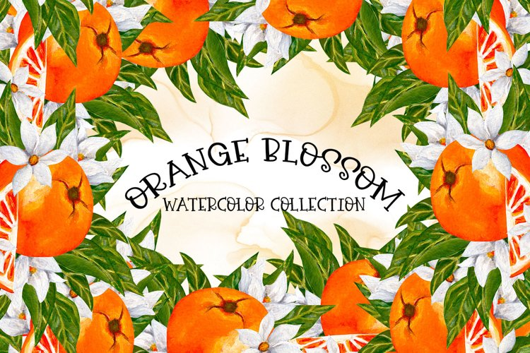 Orange Blossom-Watercolor Collection example image 1
