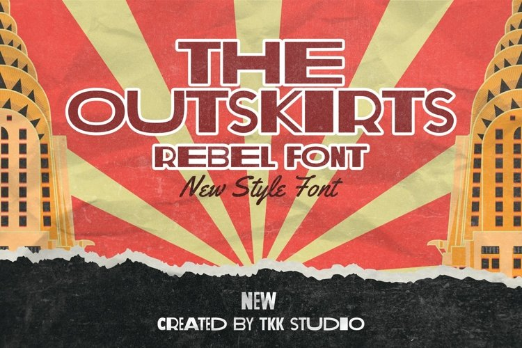 The Outskirts - Classic Vintage Rebel Font example image 1