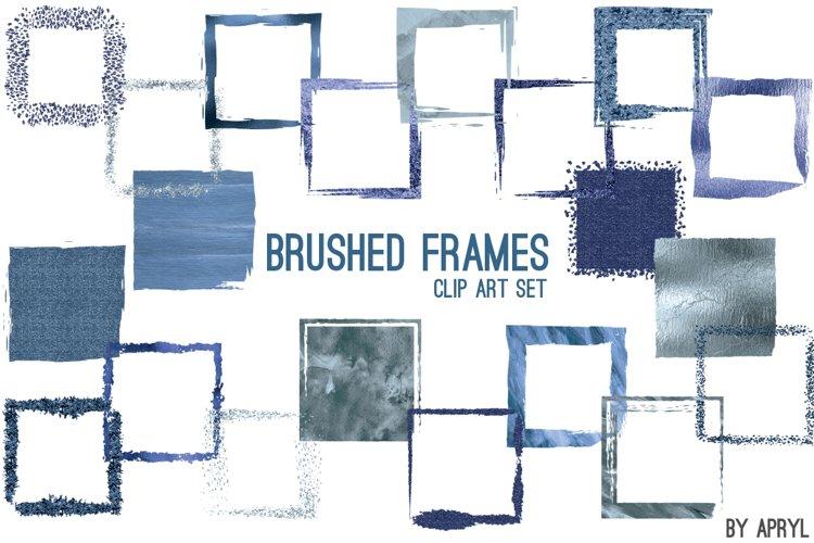 Blue Brush Stroke Square Frames example image 1