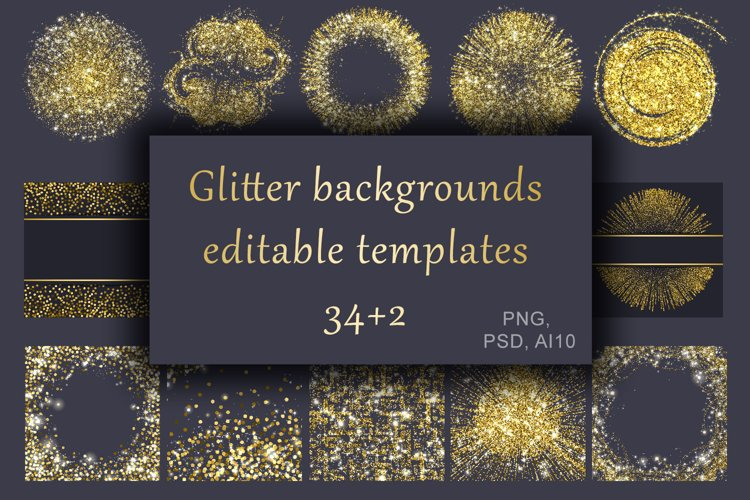 Gold glitter backgrounds. Sublimation designs