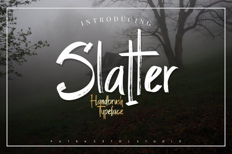 Slatter - Handbrush Typeface example image 1