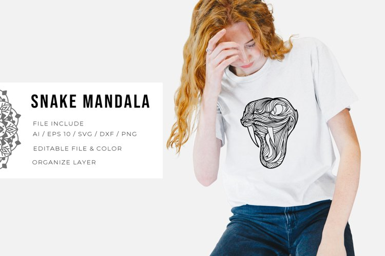 Snake Mandala | SVG example image 1