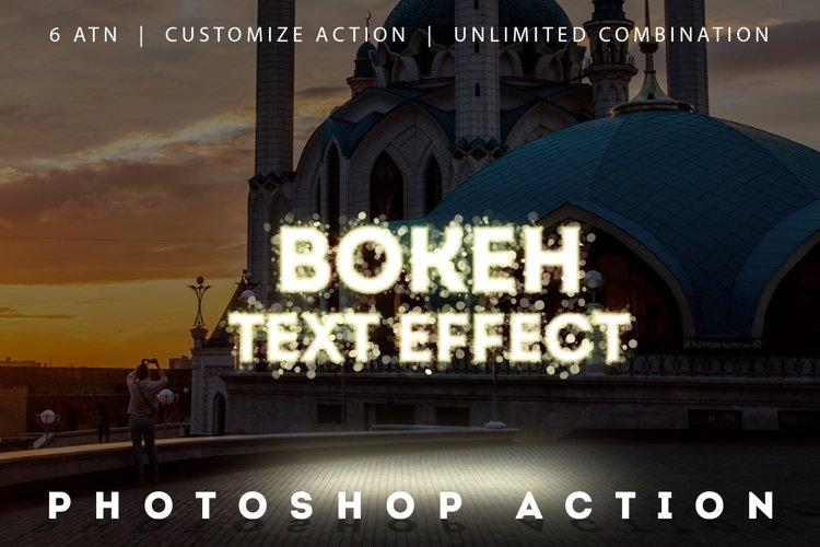 Bokeh Text Effect