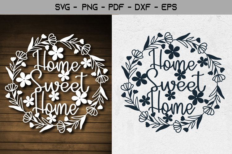 Home Sweet Home Paper Template Design example image 1