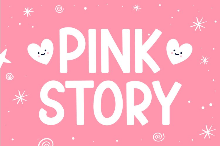 Pink Story - Cute Display Font example image 1
