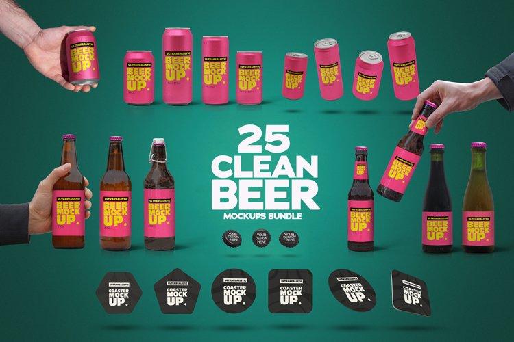 Clear Beer Mockups Bundle x25 example image 1