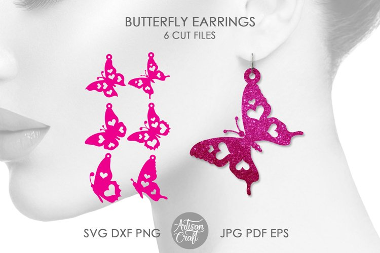 Butterfly earrings SVG, Butterfly wing earrings