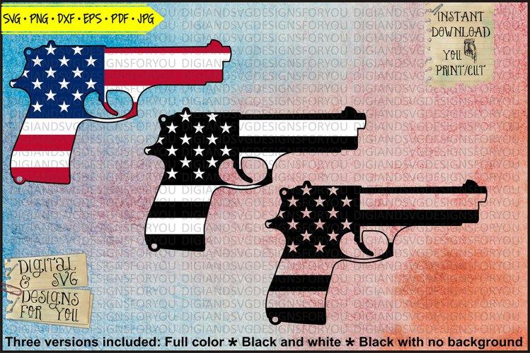 USA Flag Hand gun - Firearm