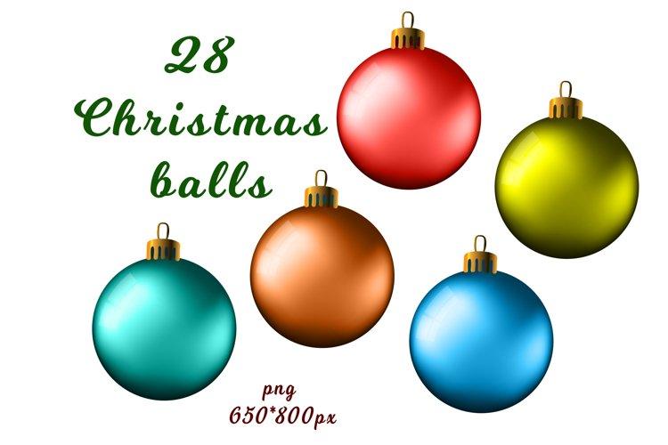 Set of 28 Christmas balls example image 1