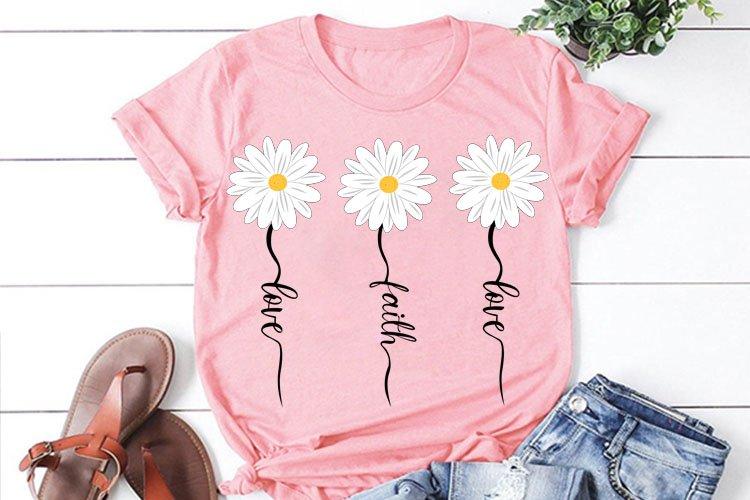 Faith Love Daisy svg, daisy clipart, flower svg, daisy