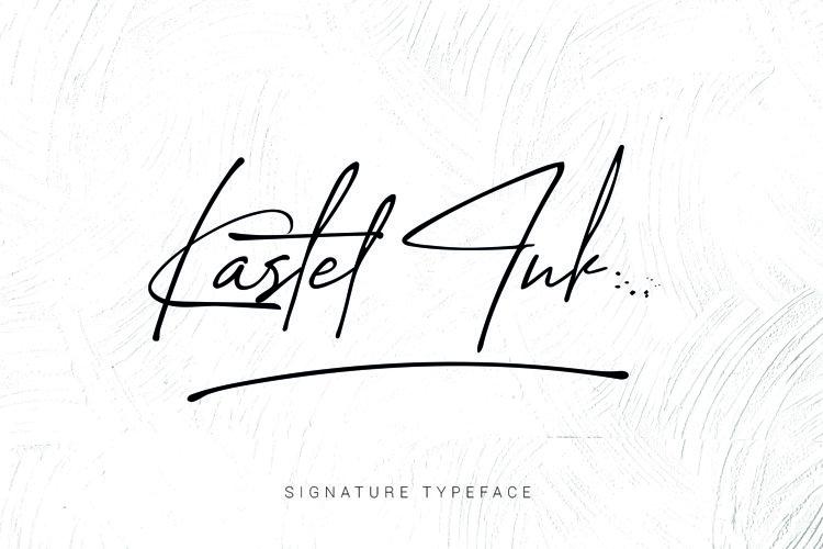 kastel Ink Script Font example image 1