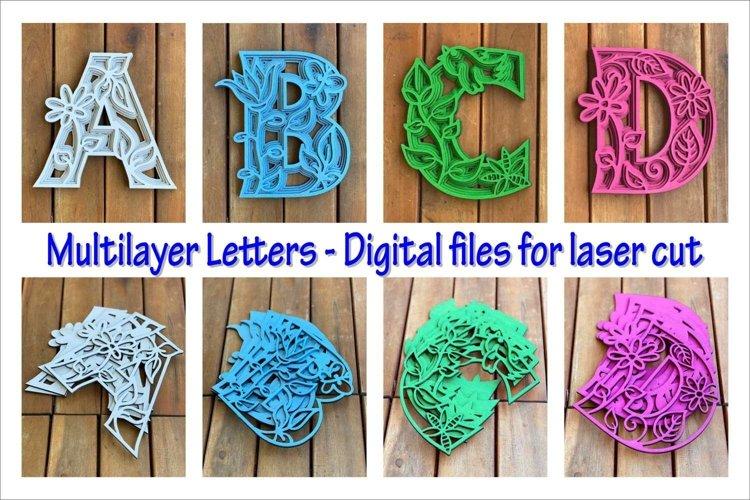 Multilayer PACK, Full alphabet A-Z flowers
