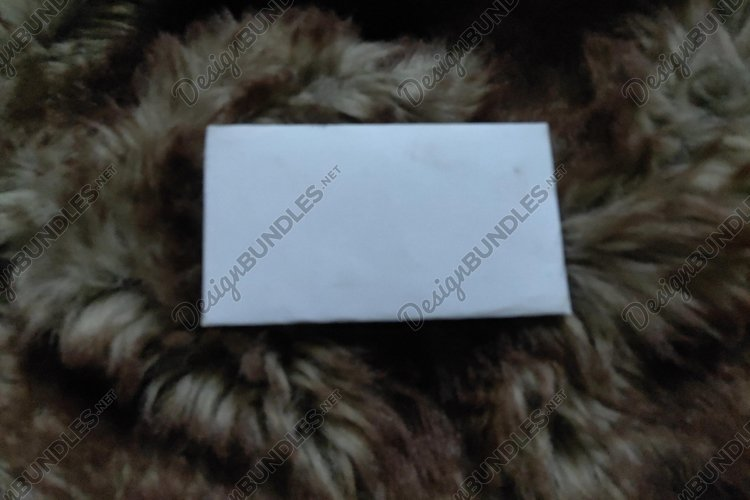 Mockup material from brown fleece mixed to white and white example image 1