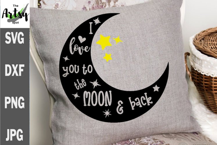 I love you to the moon and back svg, Grandma svg, baby quote
