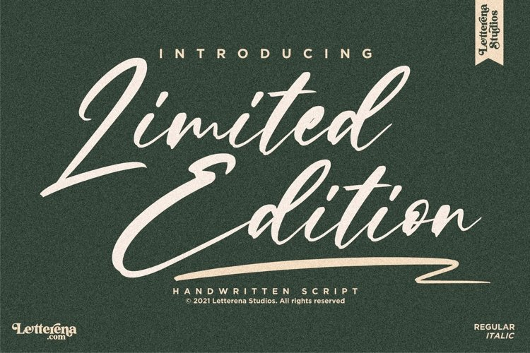 Limited Edition - Signature Script Font example image 1
