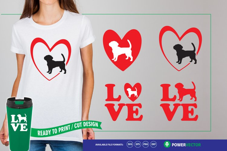Love Dogs - Dog Svg Files for Silhouette & Cricut example image 1