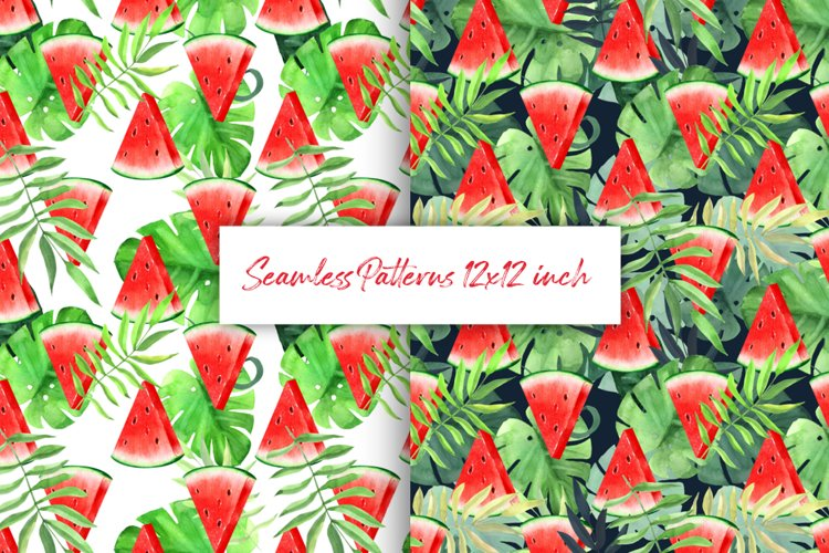 Watermelon tropical patterns example image 1