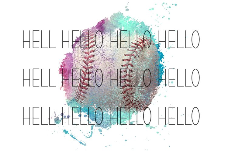 Sublimation Watercolor Baseball Vintage grunge look example image 1