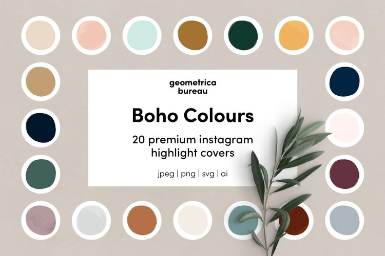 Instagram Highlight Covers Boho Colours example image 1