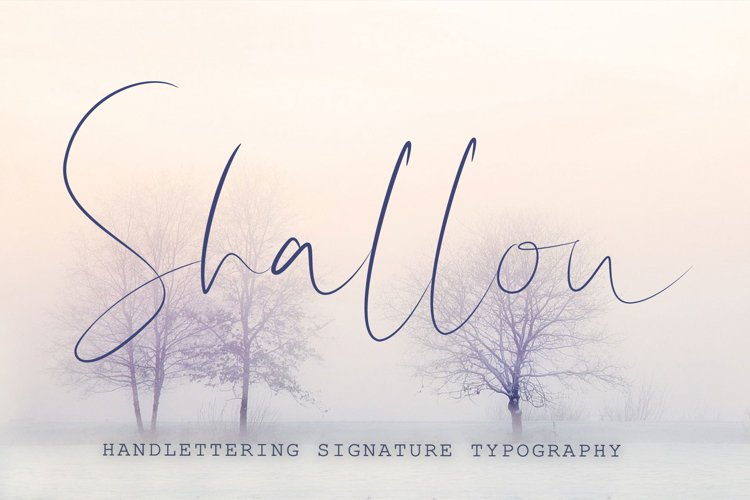 Shallou - Hand Lettering Font, Modern Calligraphy
