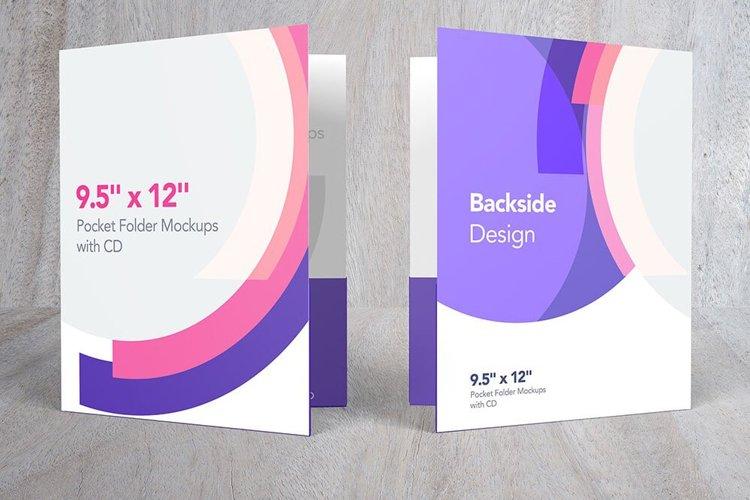 Pocket Folder Mockups with CD 9.5 x 12