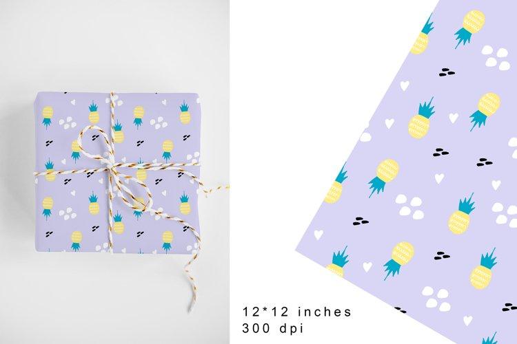 Pineapple Fruits Digital Paper.Pineapple Seamless Pattern example image 1