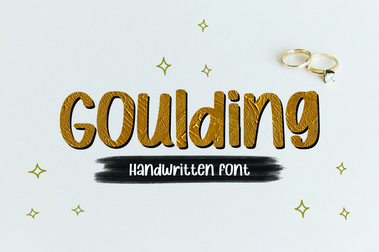 Web Font Goulding - Handwritten Font example image 1