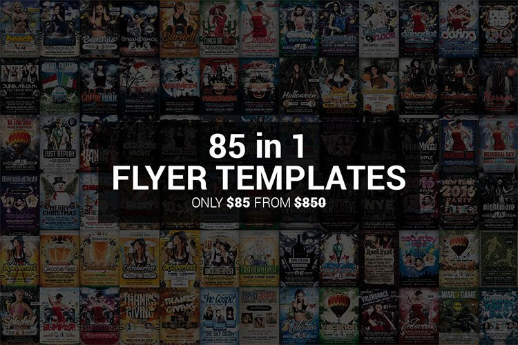 85 in 1 Flyer Templates