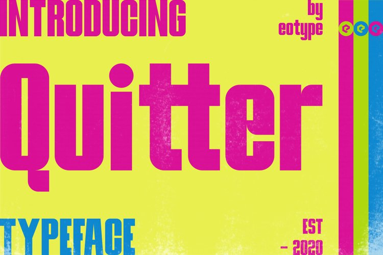 Quitter Bold Typeface example image 1