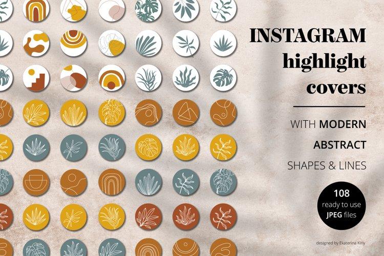 Modern instagram highlight covers