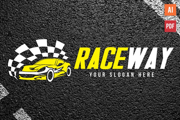 Auto Race Car Logo Template example image 1