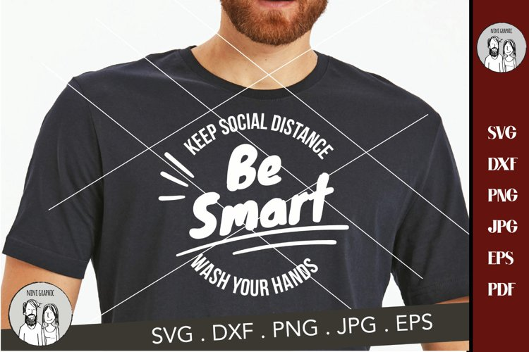 SVG be smart Wash Your Hands ,cutting file example image 1
