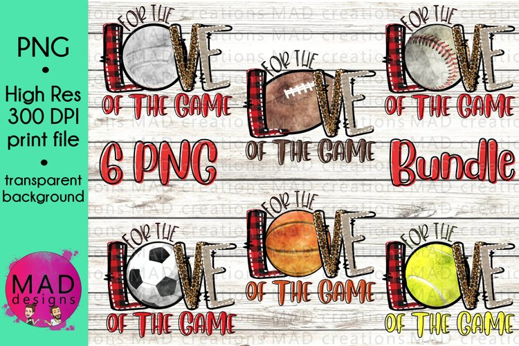 Bundle - For The Love of the Game - Print File example image 1