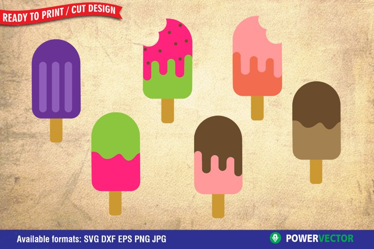 Summer Popsicle Clipart Svg Dxf Png Eps Files for Crafting