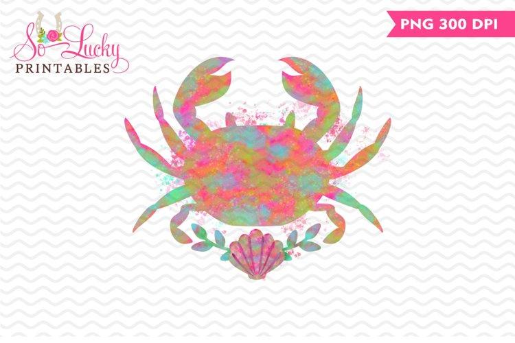 Watercolor Crab printable sublimation design example image 1