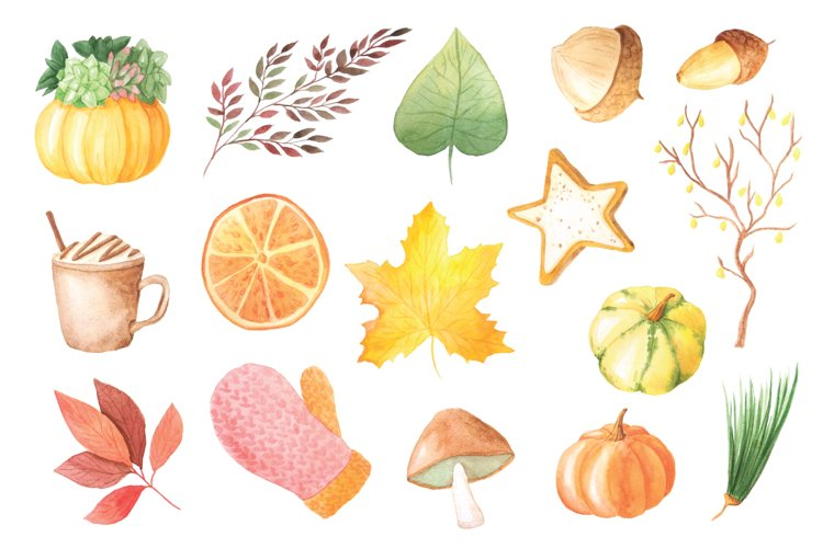 The Watercolor Autumn Collection  - Free Design of The Week Design0
