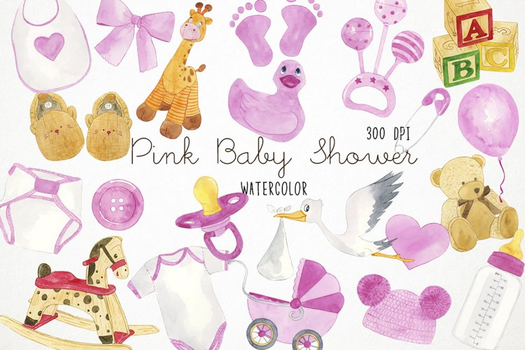 Watercolor Baby Shower Clipart, Baby Shower Clip Art
